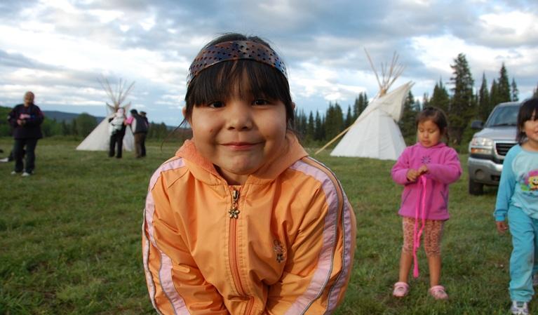 Young girl closeup at TLU camp